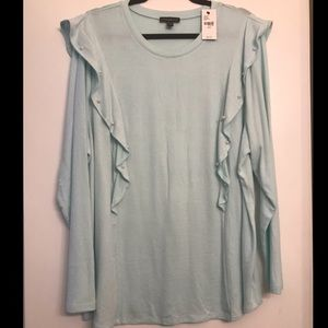 Lane Bryant Baby Blue Pearl Sweater 18/20 NWT